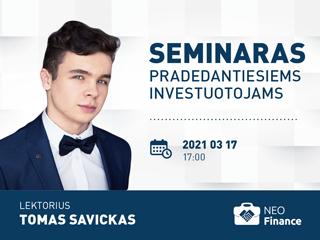 Kovo 17 d. seminaras pradedantiesiems investuotojams