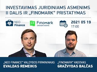 """Gegužės 19 d. seminaras juridiniams asmenims II dalis ir """"FinoMark""""  pristatymas"""